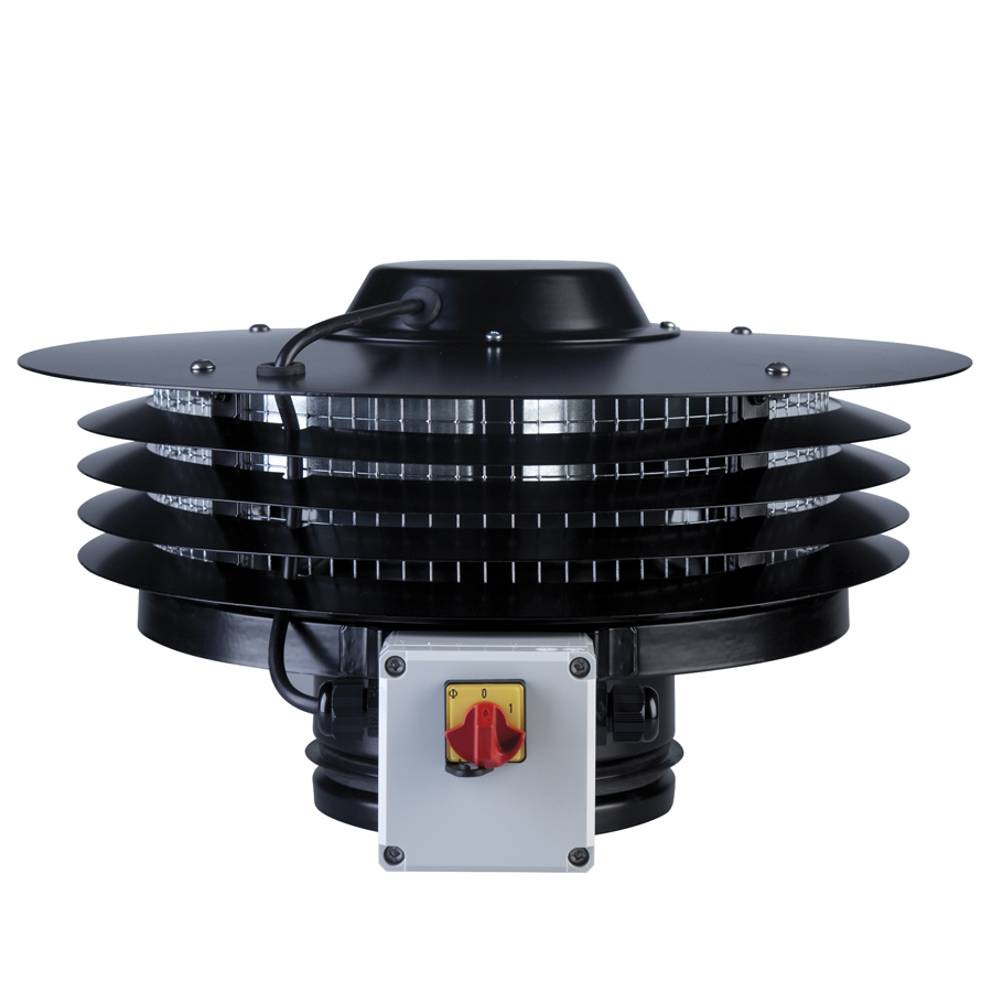 Roof mounted fans