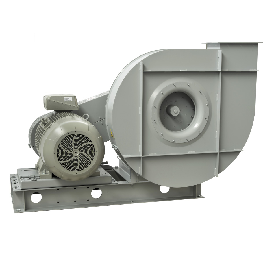 High pressure centrifugal fans with forward curved impeller belt drive