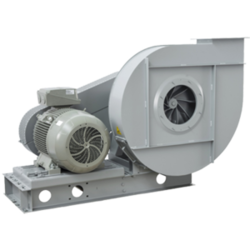 Open radial blades for pneumatic transport