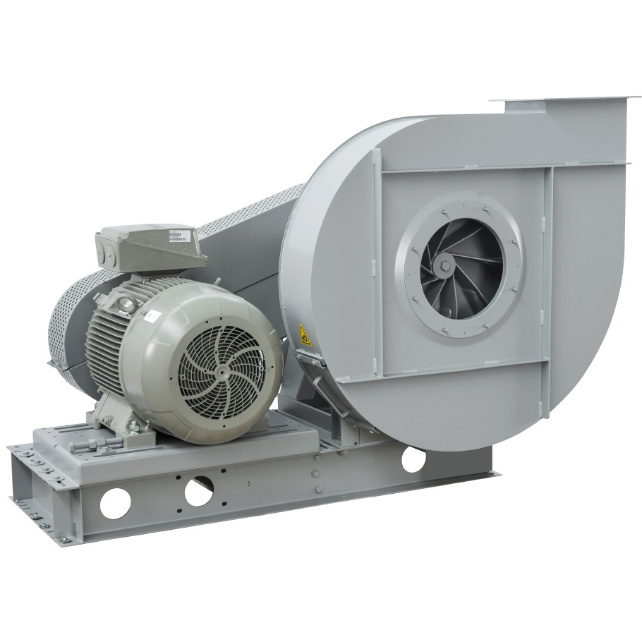 Radial Centrifugal fans for transportation of materials belt drive