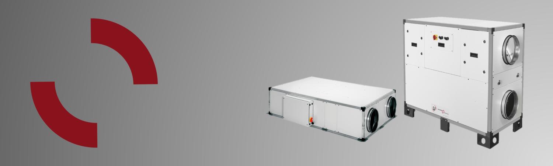 WTW-units plug&play<br>modellen tot 3.000 m3/h<br>uit voorraad leverbaar<br>