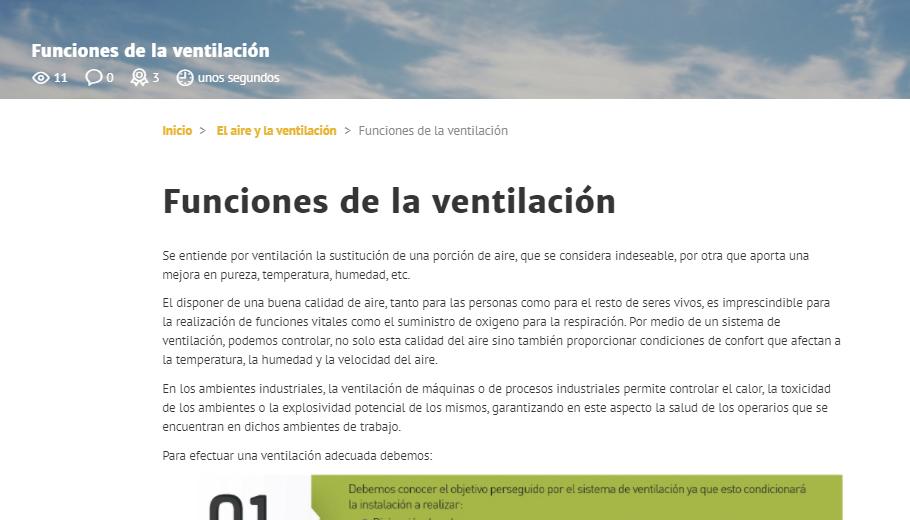 S&P Campus - Etapa introducción a la ventilación